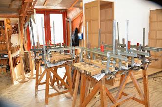 Photo: de voorbereiding voor het draaien van een kanonsloop