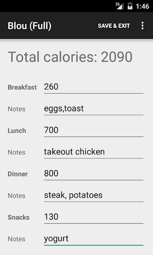 Blou Calorie Counter Full