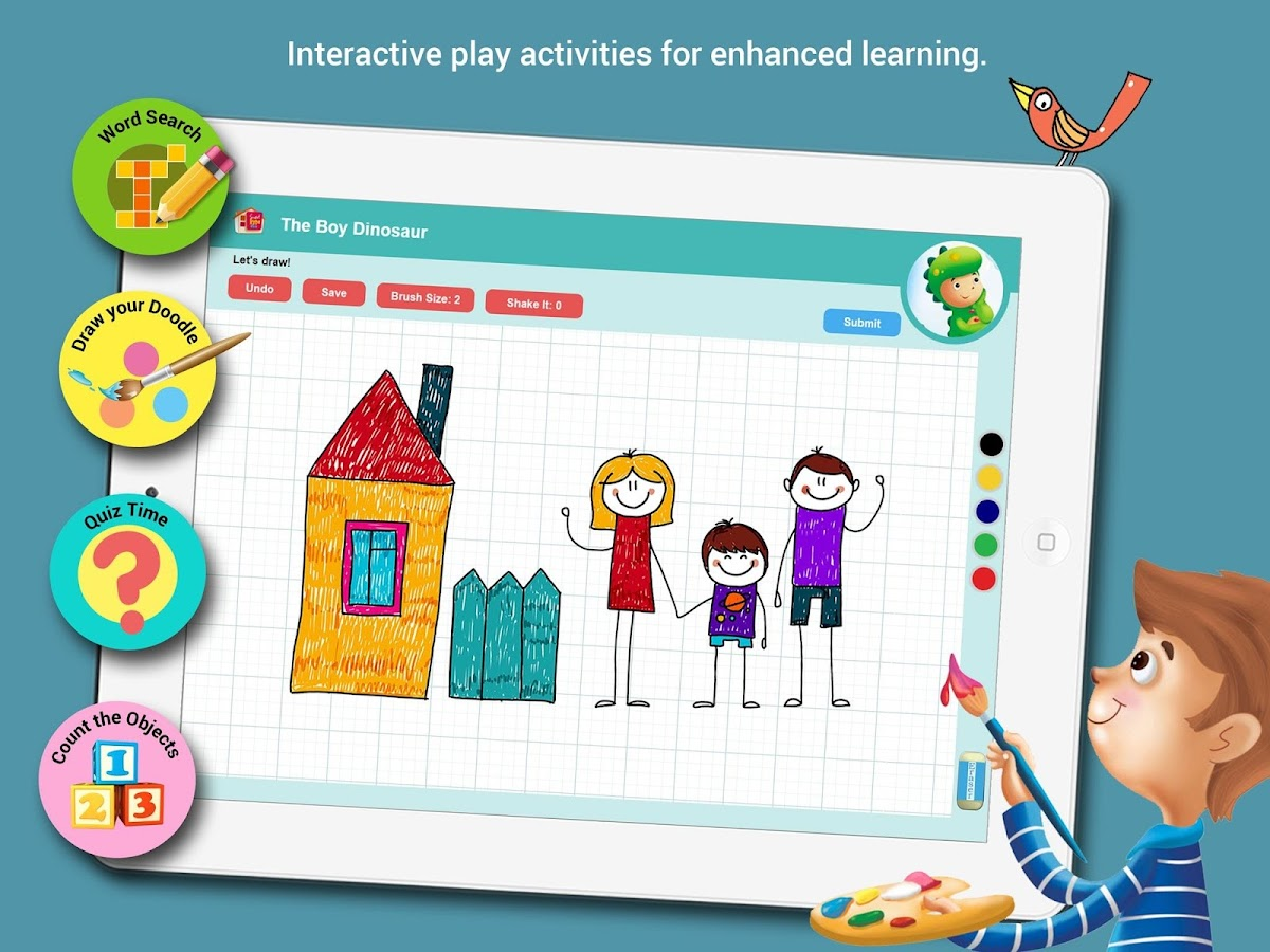 Smart Kidz Club: Learn to Read, Play and Test- screenshot