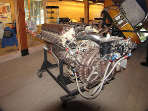 Photo: The Boat Museum - a 12 cylinder boat engine
