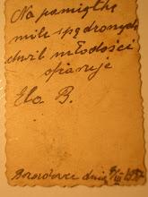 Photo: Dedykacja dla Katarzyny Dąbrowskiej od Eleonory Burlikowskiej z 07.03.1937.