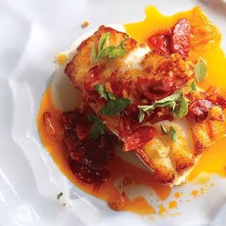 Cod with Chorizo and Breadcrumbs.