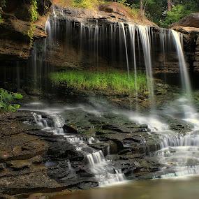 WINDING DOWN by Dana Johnson - Landscapes Waterscapes ( waterfalls, cascade, creek, falls, landscape )