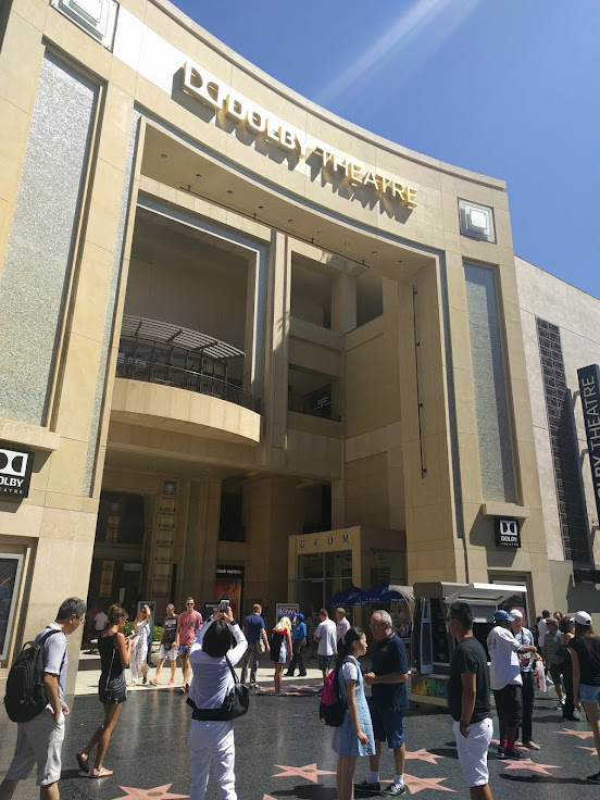 The Dolby Theater arcade entrance.