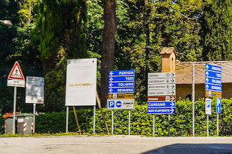 Photo: Multitude of road signs flashing by as Mark drove to our first winery