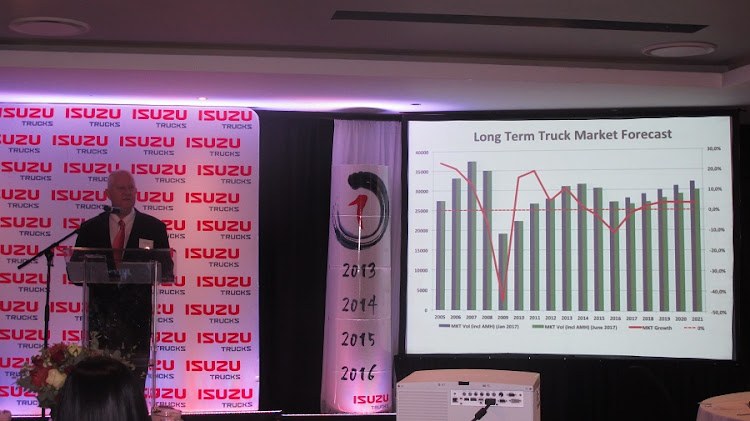 Craig Uren, chief operating officer of Isuzu Motors SA, provides a market forecast for the truck industry. Picture: MARK SMYTH