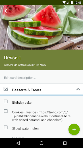 Screenshot 4 for Trello's Android app'