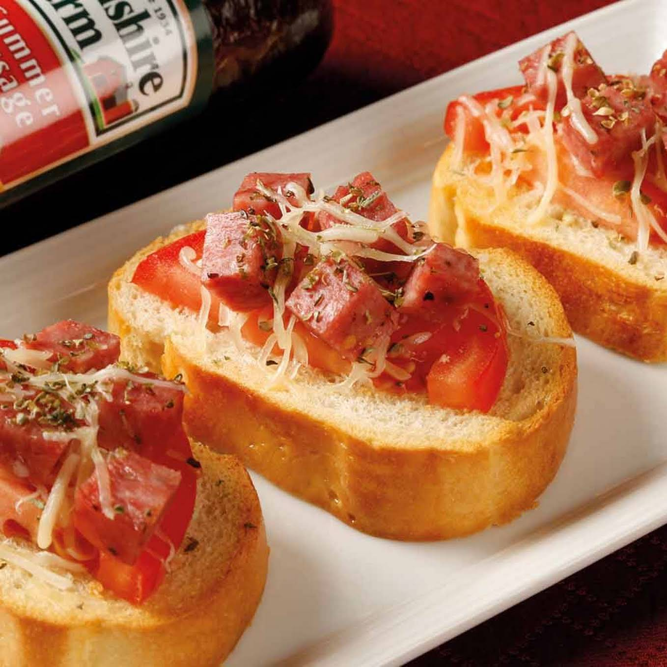 Summer Sausage Bruschetta
