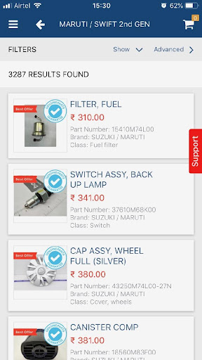 boodmo - Spare Parts for CARS in India  screenshots 3