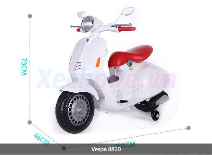 xe máy điện cho bé vespa mini