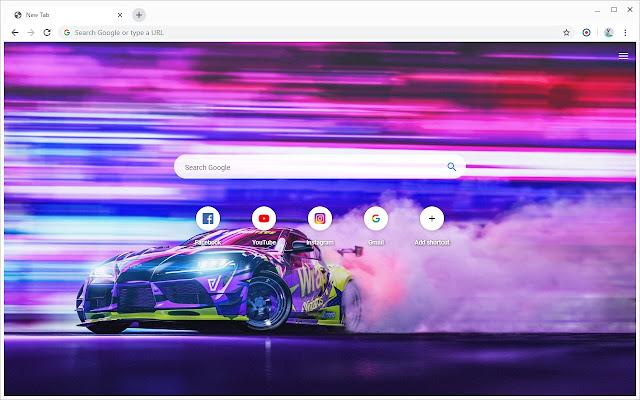 Drift Cars Wallpapers New Tab