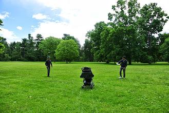 Photo: Playing frisbee outside the Vanderbilt estate.