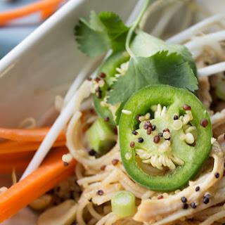 Spicy Thai Chicken Noodle Quinoa Bowls.