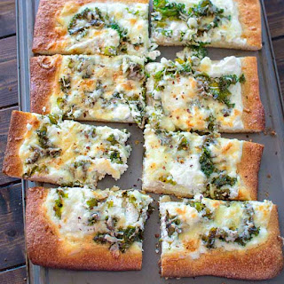 Kale and Ricotta Pizza