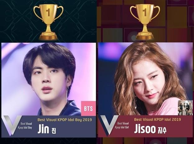 BTS's Jin and BLACKPINK's Jisoo Voted As The Best Visual K-Pop Idol