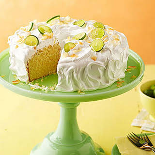 Key Lime Coconut Cake with Marshmallow Frosting.