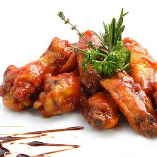 Oven Baked Honey Garlic Chicken Wings.