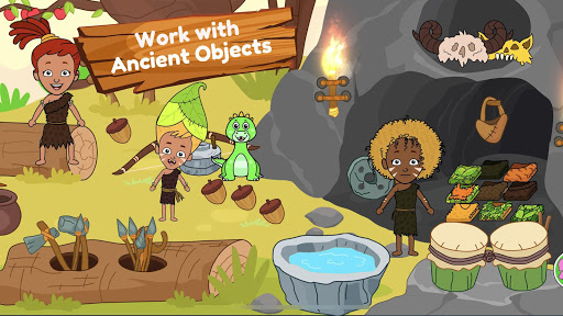 My Dinosaur Town - Jurassic Caveman Games for Kids 3.1 Screenshots 8