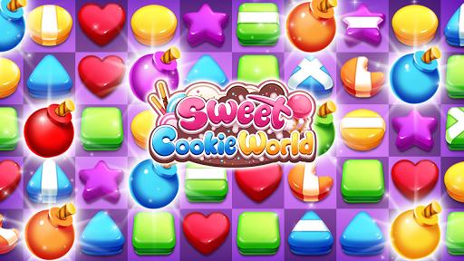Sweet Cookie World : Match 3 Puzzle screenshots 1