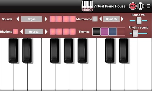 Virtual piano electro house android apps on google play for Best piano house tracks