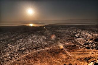 Photo: Masada looking over the Dead Sea