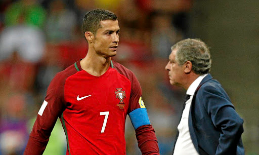 Tag team: Cristiano Ronaldo and Portugal coach Fernando Santos have a good relationship and Santos will be looking to the star player to boost the team's hopes of succeeding at the World Cup. Picture: REUTERS