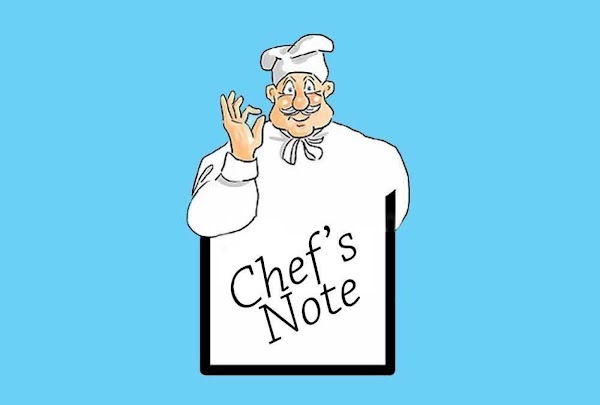 Chef's Note: At this time taste for proper seasoning… Is it hot enough?