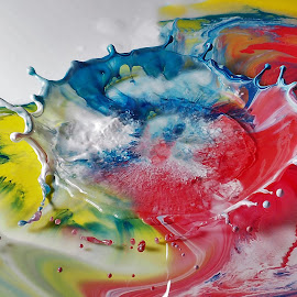 colores by Miguel Lopez De Haro - Abstract Water Drops & Splashes ( texturas, gotas, colores, salpicaduras, pinturas )