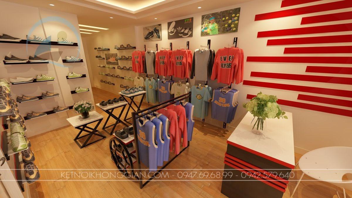 Thiết kế cửa hàng quần áo thể thao 4