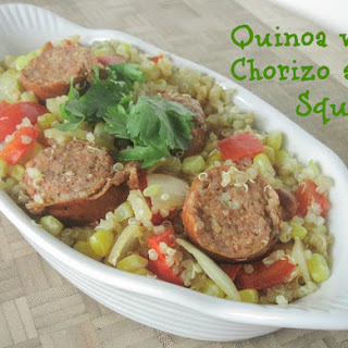 Quinoa with Chorizo and Chayote Squash