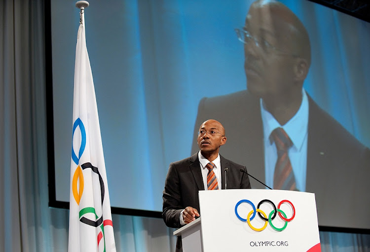 International Olympic Committee member Namibian former sprinter Frankie Fredericks speaks at.an IOC function. Picture: REUTERS