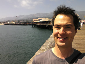 Photo: Happy to be in Santa Barbara on the wharf. Not quite sure what was happening with my hair - I blame the wind.