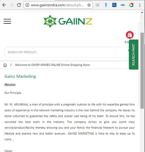 gaiinzindia marketing screenshot 2