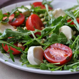 Salad With Arugula, Parmesan And Pine Nuts
