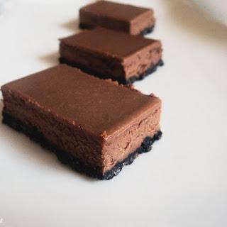 Baked Chocolate Cheesecake Slice