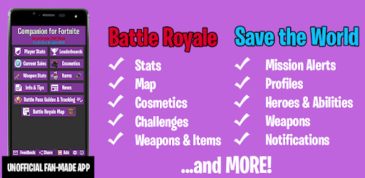Companion for Fortnite (Stats, Map, Shop, Weapons) - Apps on