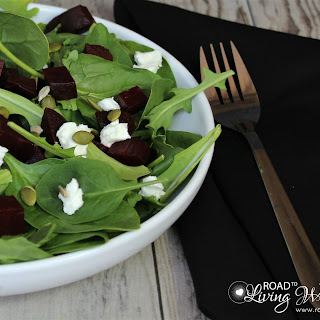 Arugula Salad with Beets, Goat Cheese, and Pepitas Recipe