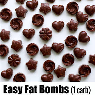 Easy Fat Bombs with Chocolate and Coconut.