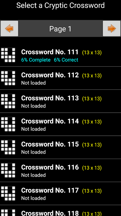 Cryptic Crosswords- screenshot
