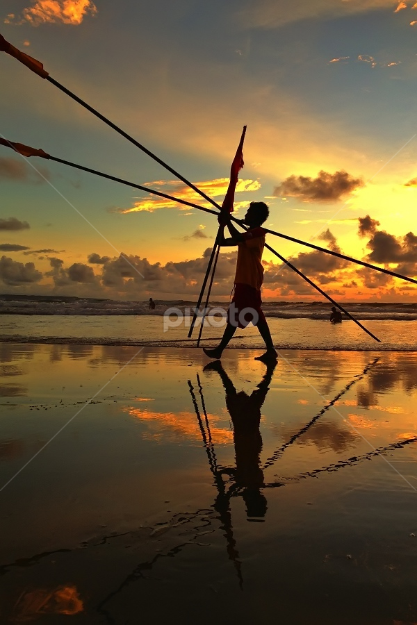 Life Guard 2 by Krishna Mahaputra - Instagram & Mobile iPhone ( water, bali, waterscape, sunset, landscape )