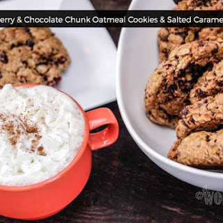 Cherry, Cranberry & Chocolate Chunk Oatmeal Cookies
