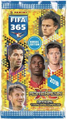 1 paket - Panini Adrenalyn XL FIFA 365 2017-18 Nordic edition