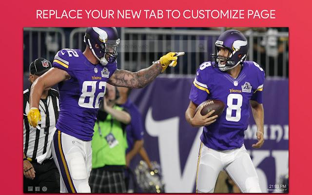 Minnesota Vikings Wallpaper HD Custom New Tab