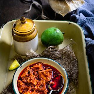 Andhra Style Mango and Ginger Garlic Pickle / Allam Avakaya