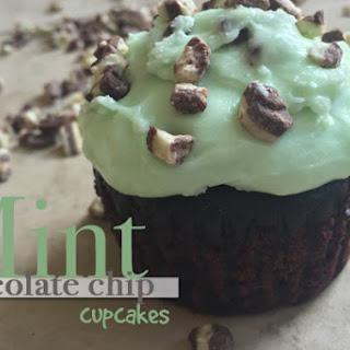 Mint Chocolate Chip Cupcakes.
