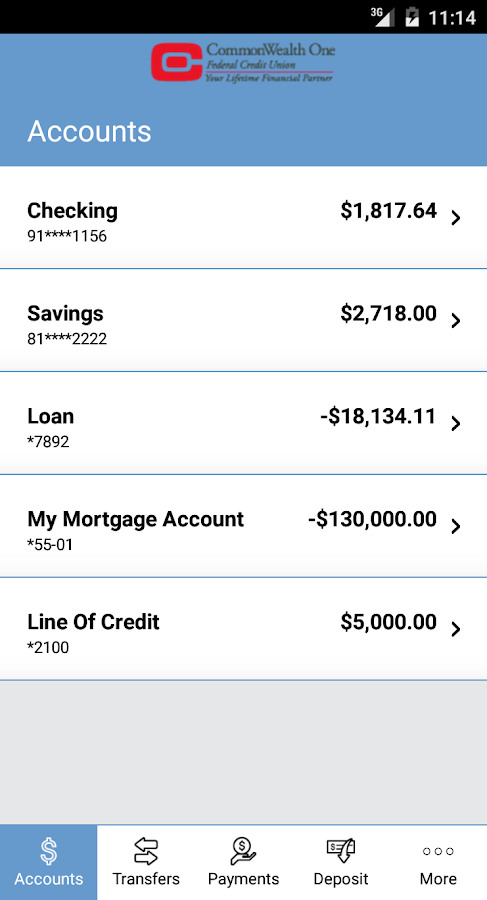CommonWealth One FCU- screenshot