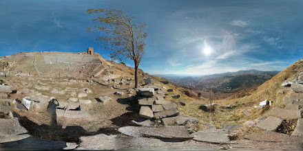 Photo: Pergamon view from the theater overlooking the valley