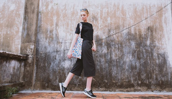 Phối Quần Culottes + giày sneaker 5