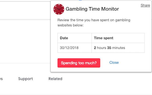 Gambling Time Monitor