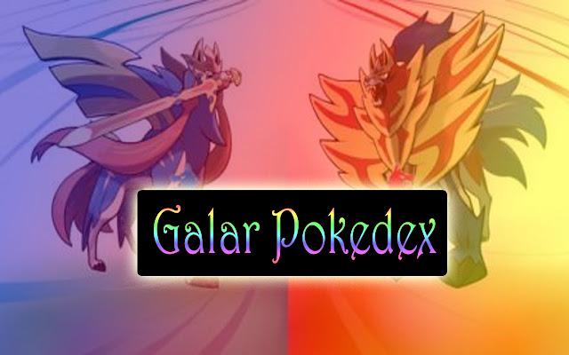 Galar Pokedex:Official Galar Region Pokedex